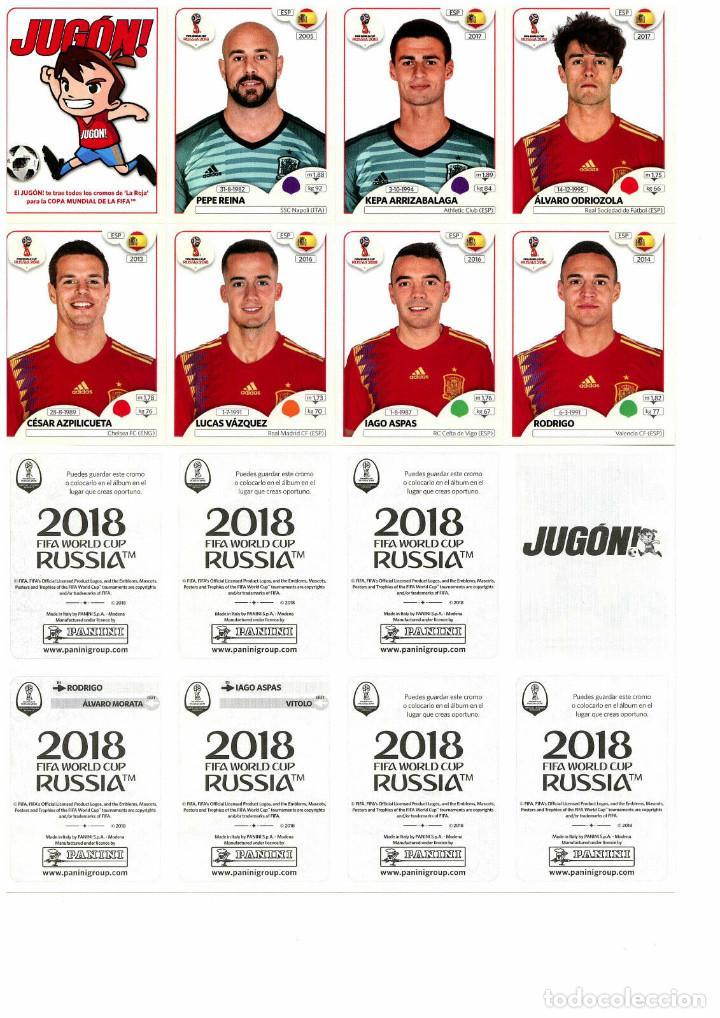 SET EXTRA EDITION SPAIN STICKERS PANINI FIFA WORLD CUP RUSSIA RUSIA 2018 CROMOS ACTUALIZACION ESPAÑA (Coleccionismo Deportivo - Álbumes y Cromos de Deportes - Cromos de Fútbol)
