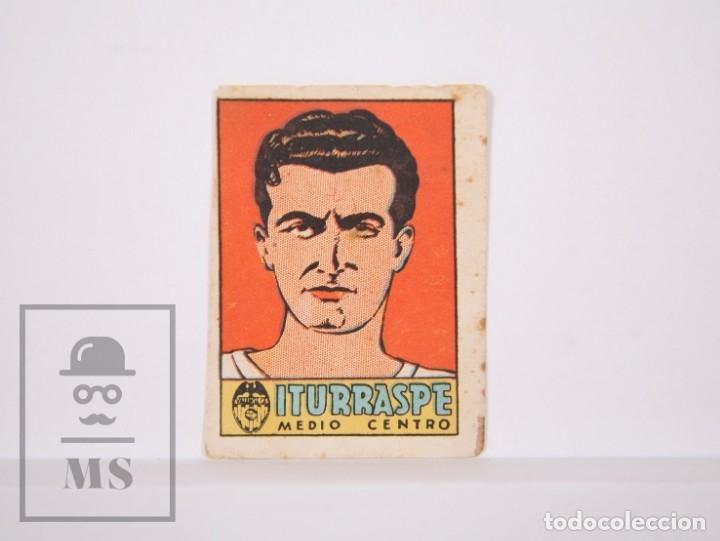 CROMO FÚTBOL - ÁLBUM CULTURA DEPORTES BRUGUERA - VALENCIA C.F - ITURRASPE - AÑO 1942 - (Coleccionismo Deportivo - Álbumes y Cromos de Deportes - Cromos de Fútbol)
