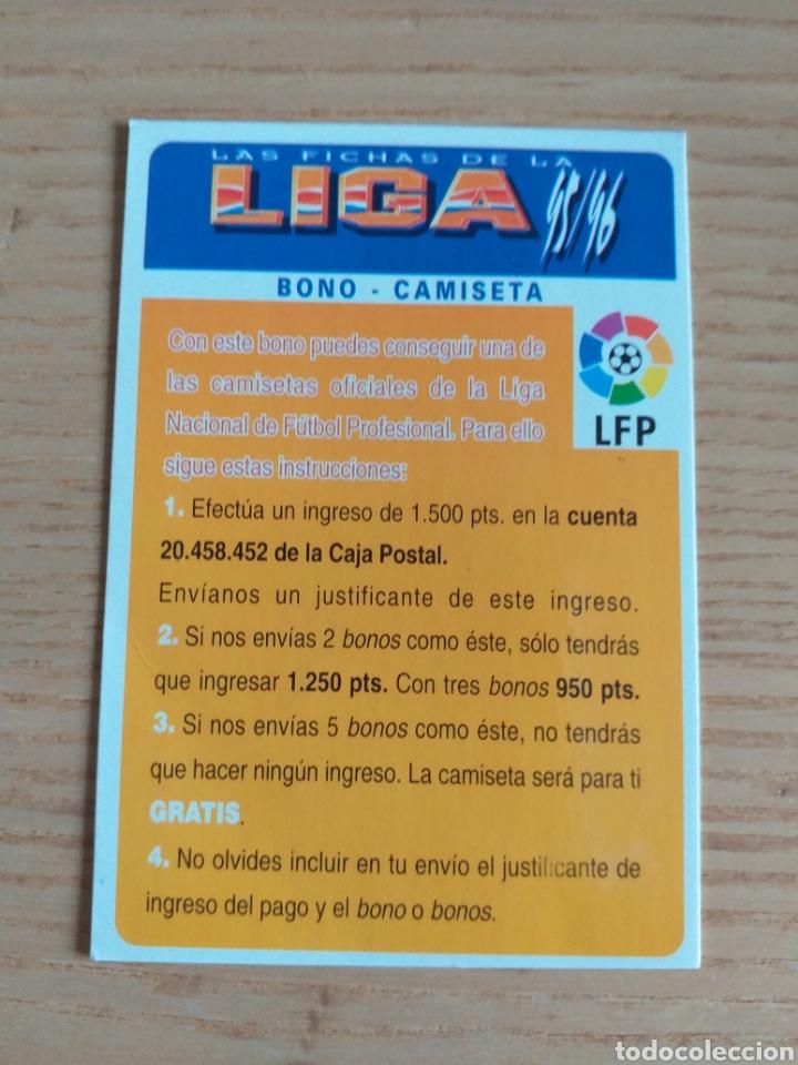 FÚTBOL CROMO BONO CAMISETA MUNDICROMO 1995 1996 (EN EL PUNTO 3, LA PALABRA GRATIS SALE EN BLANCO) V (Coleccionismo Deportivo - Álbumes y Cromos de Deportes - Cromos de Fútbol)