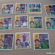 Cromos de Fútbol: 92 93 ESTE. NUNCA PEGADO LOTE 11 CROMOS BARCELONA ZUBIZARRETA WITSCHGE SALINAS KOEMAN . Lote 168797348