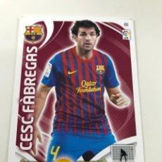 Cromos de Fútbol: CROMO Nº48 CESC FABREGAS - FC BARCELONA - ADRENALYN PANINI 2011 2012. Lote 168802168