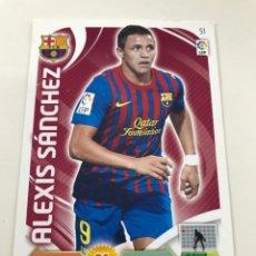 Cromos de Fútbol: CROMO Nº51 ALEXIS SANCHEZ - FC BARCELONA - ADRENALYN PANINI 2011 2012. Lote 168802260