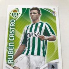 Cromos de Fútbol: CROMO Nº72 RUBEN CASTRO - REAL BETIS - ADRENALYN PANINI 2011 2012. Lote 168802812