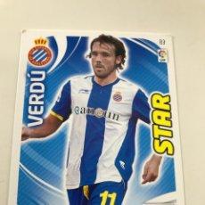 Cromos de Fútbol: CROMO Nº83 STAR VERDU - RCD ESPANYOL- ADRENALYN PANINI 2011 2012. Lote 168803888