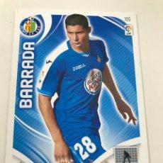 Cromos de Fútbol: CROMO Nº105 BARRADA - GETAFE CF - ADRENALYN PANINI 2011 2012. Lote 168804440
