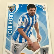 Cromos de Fútbol: CROMO Nº170 TOULALAN - MALAGA CF - ADRENALYN PANINI 2011 2012. Lote 168807284