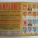 Cromos de Fútbol: PÓSTER - CARTEL PUBLICIDAD DE LA COLECCIÓN CAMPEONES 1949 DE EDITORIAL BRUGUERA.. Lote 168826992
