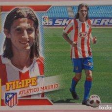 Cromos de Fútbol: CROMO DE FÚTBOL FILIPE DEL ATLÉTICO DE MADRID SIN PEGAR FICHAJE 19 LIGA ESTE 2010-2011/10-11. Lote 210704807