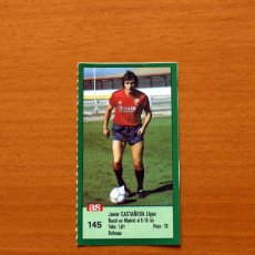Cromos de Futebol: OSASUNA - Nº 145, CASTAÑEDA - AS - ASES DE LIGA 1988-1989, 88-89 - NUNCA PEGADO ADHESIVO. Lote 169286376