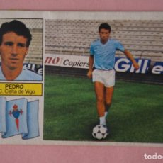 Cromos de Fútbol: CROMO DE FÚTBOL PEDRO DEL CELTA DE VIGO DESPEGADO FICHAJE 9 PELO MORENO LIGA ESTE 1982-1983/82-83 L3. Lote 169294104