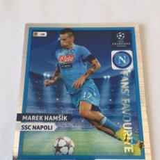 Cromos de Fútbol: MAREK HAMSIK NÁPOLES ADRENALYN CHAMPIONS 13/14 FANS FAVOURITE. Lote 169304269