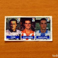 Cartes à collectionner de Football: TONI, ESPAÑOL-CASTAÑO, LOGROÑÉS-PAVLICIC, HÉRCULES -LIGA 1996-1997, 96-97 CHICLES VIDAL-NUNCA PEGADO. Lote 169399996