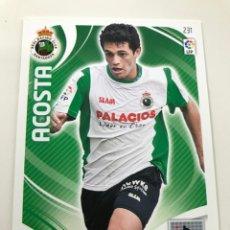 Cromos de Fútbol: CROMO Nº231 ACOSTA - RACING DE SANTANDER - ADRENALYN PANINI 2011 2012. Lote 169580660