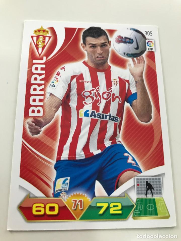 CROMO Nº305 BARRAL - SPORTING DE GIJON - ADRENALYN PANINI 2011 2012 (Coleccionismo Deportivo - Álbumes y Cromos de Deportes - Cromos de Fútbol)