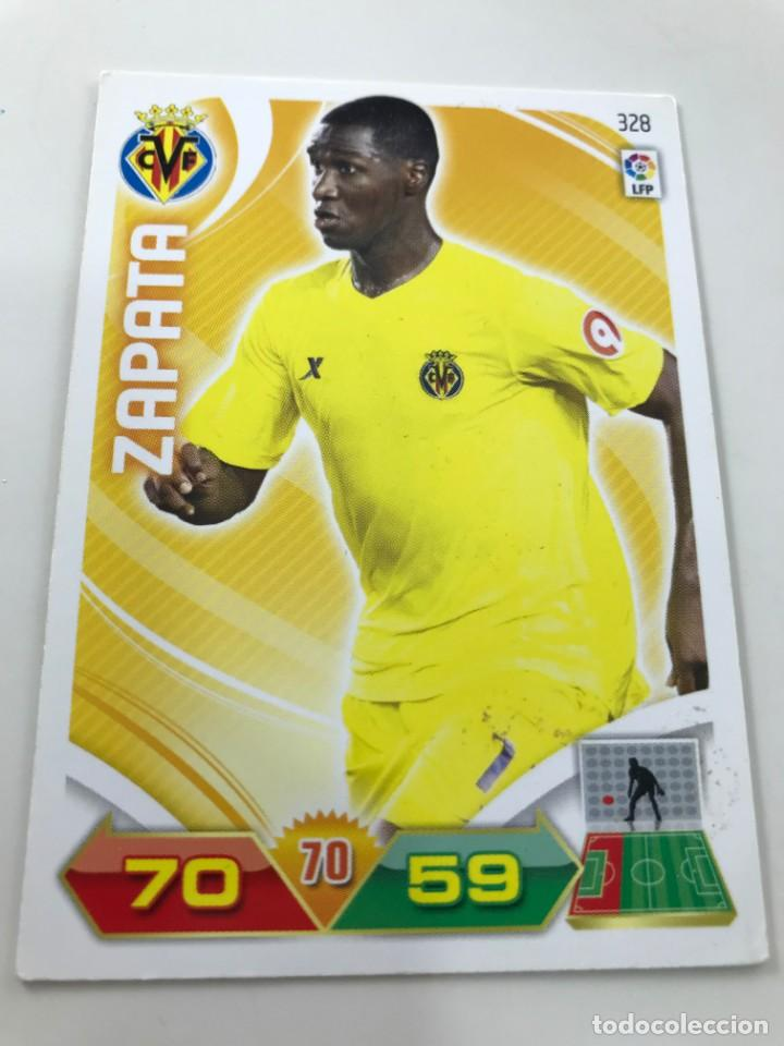 CROMO Nº328 ZAPATA - VILLAREAL CF - ADRENALYN PANINI 2011 2012 (Coleccionismo Deportivo - Álbumes y Cromos de Deportes - Cromos de Fútbol)