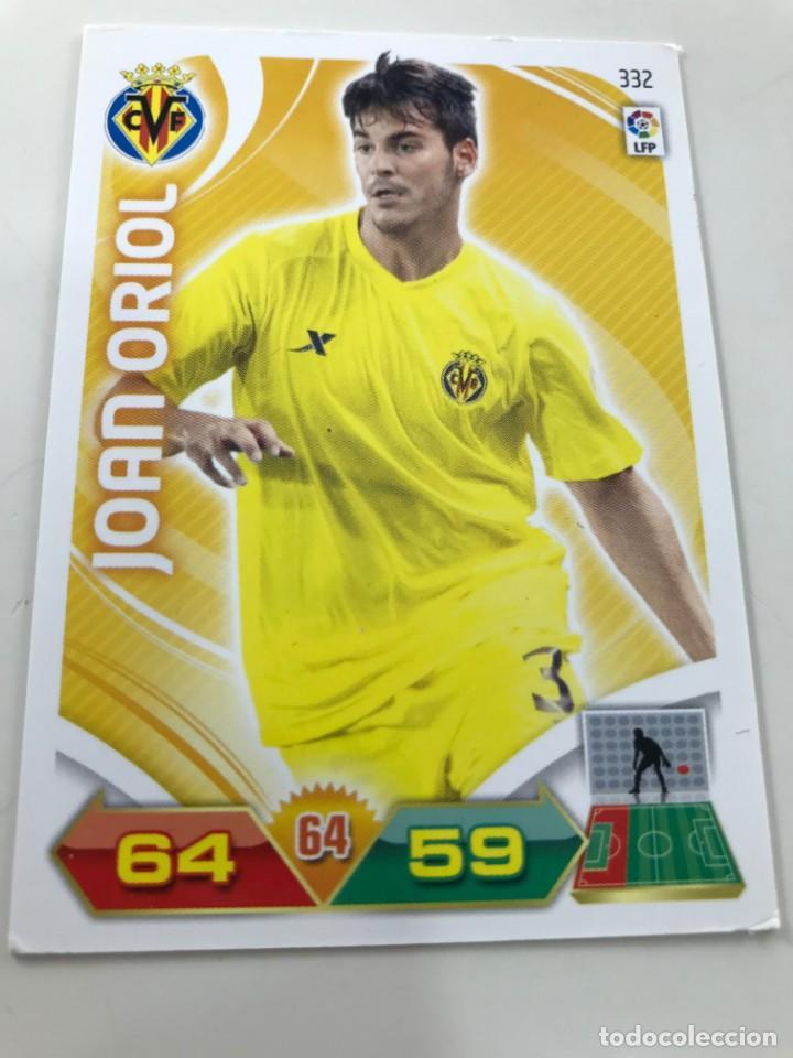 CROMO Nº332 JOAN ORIOL - VILLAREAL CF - ADRENALYN PANINI 2011 2012 (Coleccionismo Deportivo - Álbumes y Cromos de Deportes - Cromos de Fútbol)