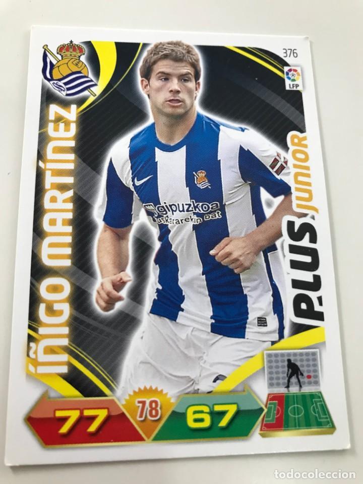 CROMO Nº376 PLUS JUNIOR ÑIGO MARTINEZ - REAL SOCIEDAD - ADRENALYN PANINI 2011 2012 (Coleccionismo Deportivo - Álbumes y Cromos de Deportes - Cromos de Fútbol)