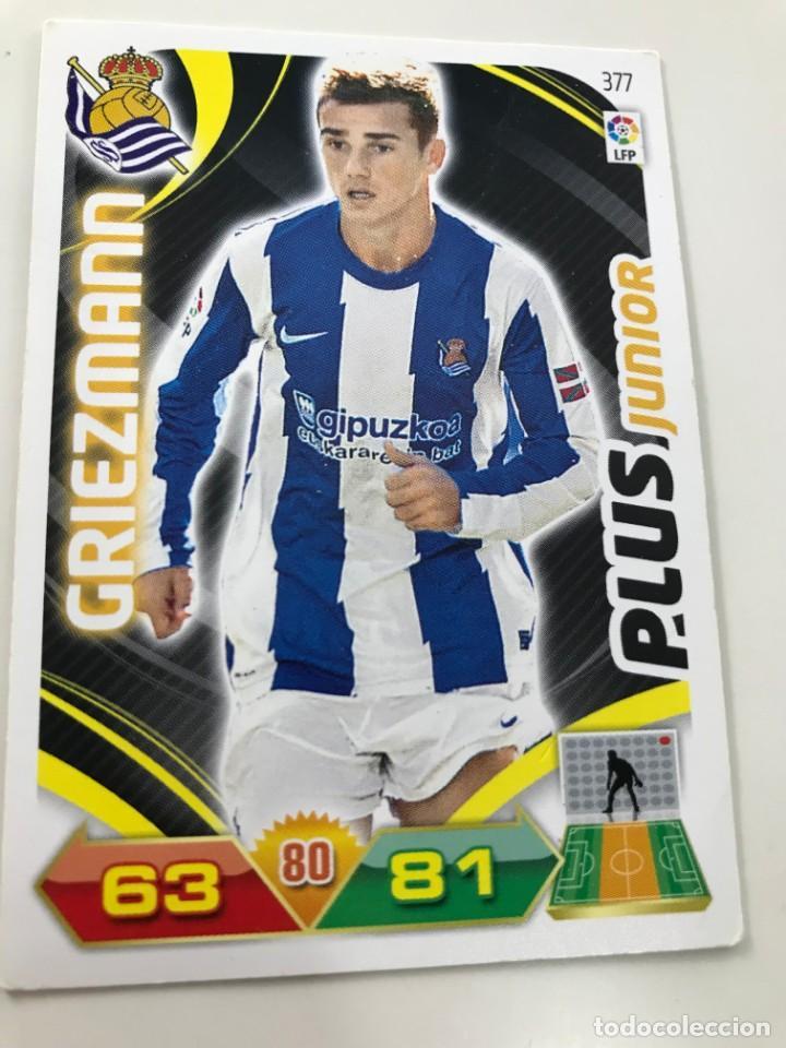 CROMO Nº377 PLUS JUNIOR GRIEZMANN - REAL SOCIEDAD - ADRENALYN PANINI 2011 2012 (Coleccionismo Deportivo - Álbumes y Cromos de Deportes - Cromos de Fútbol)