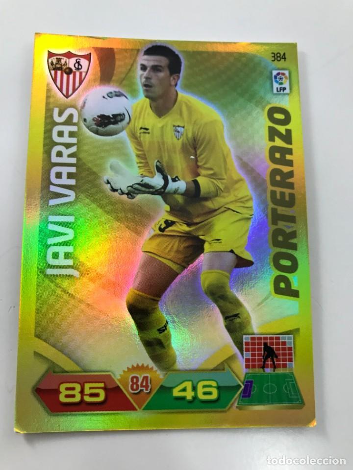 CROMO Nº384 PORTERAZO JAVI VARAS - SEVILLA FC - ADRENALYN PANINI 2011 2012 (Coleccionismo Deportivo - Álbumes y Cromos de Deportes - Cromos de Fútbol)