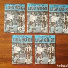 Cromos de Fútbol: 5 SOBRES DE COLOR AZUL SIN ABRIR ESTE CAMPEONATO LIGA 80/81 1980/81 FUTBOL. Lote 169852480