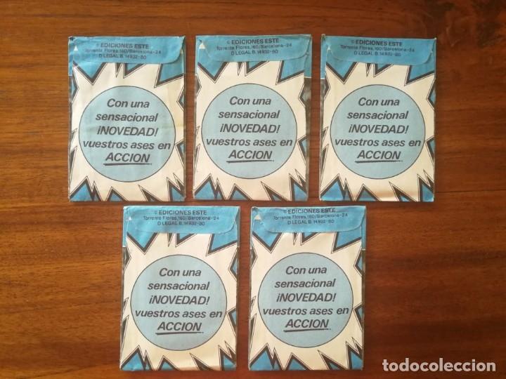 Cromos de Fútbol: 5 sobres de color azul sin abrir ESTE CAMPEONATO LIGA 80/81 1980/81 FUTBOL - Foto 2 - 169852480