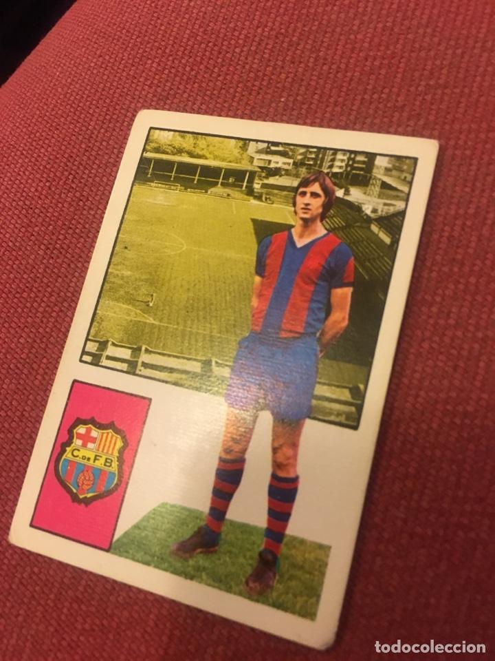 FHER 74 75 1974 1975 SIN PEGAR BARCELONA CRUYFF (Coleccionismo Deportivo - Álbumes y Cromos de Deportes - Cromos de Fútbol)