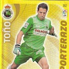 Cromos de Fútbol: ADRENALYN LIGA 2011 2012 PANINI Nº 382 TOÑO (RACING SANTANDER) PORTERAZO. Lote 170064788