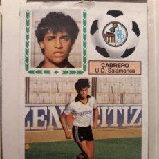 Cromos de Fútbol: EDICIONES ESTE 83 84 CABRERO SALAMANCA COLOCA DIFICIL. Lote 170104232