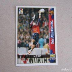 Cartes à collectionner de Football: MUNDICROMO FICHAS LIGA 98 99 Nº 3 HESP BARCELONA 1998 1999 NUEVO. Lote 170219580