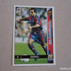 Cartes à collectionner de Football: MUNDICROMO FICHAS LIGA 98 99 Nº 6 SERGI BARCELONA 1998 1999 NUEVO. Lote 170219608
