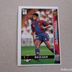 Cartes à collectionner de Football: MUNDICROMO FICHAS LIGA 98 99 Nº 7 REIZIGER BARCELONA 1998 1999 NUEVO. Lote 170219632