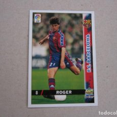 Cartes à collectionner de Football: MUNDICROMO FICHAS LIGA 98 99 Nº 8 ROGER BARCELONA 1998 1999 NUEVO. Lote 170219654