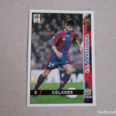 Cartes à collectionner de Football: MUNDICROMO FICHAS LIGA 98 99 Nº 9 CELADES BARCELONA 1998 1999 NUEVO. Lote 170219665