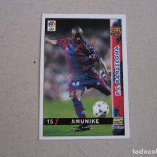Cartes à collectionner de Football: MUNDICROMO FICHAS LIGA 98 99 Nº 15 AMUNIKE BARCELONA 1998 1999 NUEVO. Lote 170219858