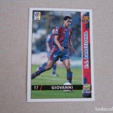 Cartes à collectionner de Football: MUNDICROMO FICHAS LIGA 98 99 Nº 17 GIOVANNI BARCELONA 1998 1999 NUEVO. Lote 179205867
