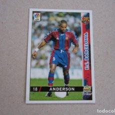 Cartes à collectionner de Football: MUNDICROMO FICHAS LIGA 98 99 Nº 18 ANDERSON BARCELONA 1998 1999 NUEVO. Lote 179205891