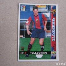 Cartes à collectionner de Football: MUNDICROMO FICHAS LIGA 98 99 ULTIMA HORA I UH CORREGIDO Nº 451 PELLEGRINO BARCELONA 1998 1999 NUEVO. Lote 170220696