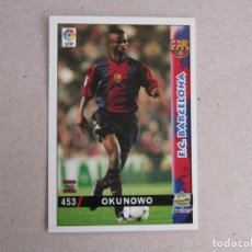 Cartes à collectionner de Football: MUNDICROMO FICHAS LIGA 98 99 ULTIMA HORA I UH Nº 453 OKUNOWO BARCELONA 1998 1999 NUEVO. Lote 170220720