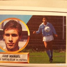 Cromos de Fútbol: ESTE 88-89 MUY DIFICIL. LUIS MANUEL OVIEDO. VERSION BALON EN EL AIRE . Lote 170235760
