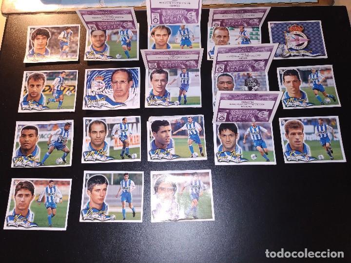 LIGA ESTE 2000 2001 00 01 DEPORTIVO - 24 CROMOS RECUPERADOS (Coleccionismo Deportivo - Álbumes y Cromos de Deportes - Cromos de Fútbol)