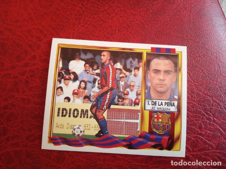 IVAN DE LA PEÑA BARCELONA ED ESTE LIGA CROMO 95 96 FUTBOL 1995 1996 - SIN PEGAR - 922 (Coleccionismo Deportivo - Álbumes y Cromos de Deportes - Cromos de Fútbol)