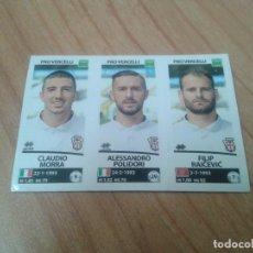 Cromos de Fútbol: CLAUDIO MORA, POLIDORI, RAICEVIC -- Nº 692 -- PROVERCELLI -- 17/18 -- CALCIATORI -- PANINI -- ITALIA. Lote 171356512