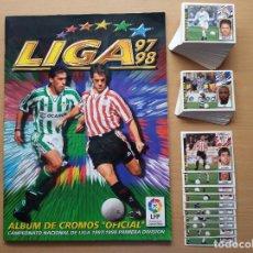Cromos de Fútbol: ALBUM LIGA EDICIONES ESTE FUTBOL 97 98 COMPLETO 1997 1998 + 119 CROMOS DOBLES SUELTOS COLOCAS BAJAS. Lote 171439088