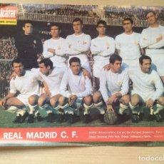 Cromos de Fútbol: POSTER DEL REAL MADRID,PERIÓDICO EL ALCÁZAR,AÑOS 60,. Lote 171742694