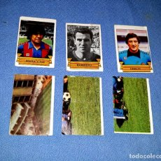 Cromos de Fútbol: 6 CROMOS BARCELONA CAMPEON 84-85 MARADONA EVARISTO URRUTI NUNCA PEGADOS ORIGINALES VER FOTO. Lote 172163524