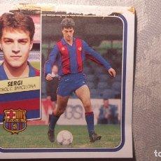 Figurine di Calcio: SERGI BARCELONA LIGA 89 90 1989. Lote 172243644