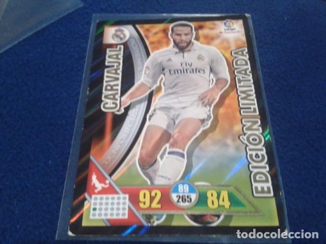 CROMO ADRENALYN 2016 - 17 ( CARVAJAL - EDICION LIMITADA ) REAL MADRID (Coleccionismo Deportivo - Álbumes y Cromos de Deportes - Cromos de Fútbol)
