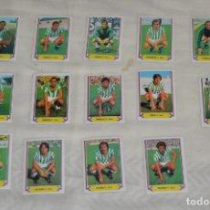 Cromos de Fútbol: REAL BETIS / 14 CROMOS - LIGA 80 81 / 80-81 - EDICIONES ESTE - PLANCHA, SIN USAR, PERFECTOS ¡MIRA!. Lote 172696945
