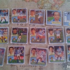 Cromos de Fútbol: 15 CROMOS REAL SOCIEDAD - ESTE 89-90 - LIGA 1989-1990 - LOTE DE CROMOS. Lote 172771144