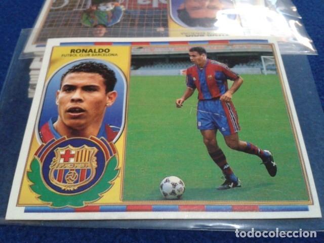 CROMO LIGA 96 / 97 ESTE 1996- 1997 ( RONALDO - VERSION PELO ) F.C. BARCELONA NUEVO NUNCA PEGADO (Coleccionismo Deportivo - Álbumes y Cromos de Deportes - Cromos de Fútbol)